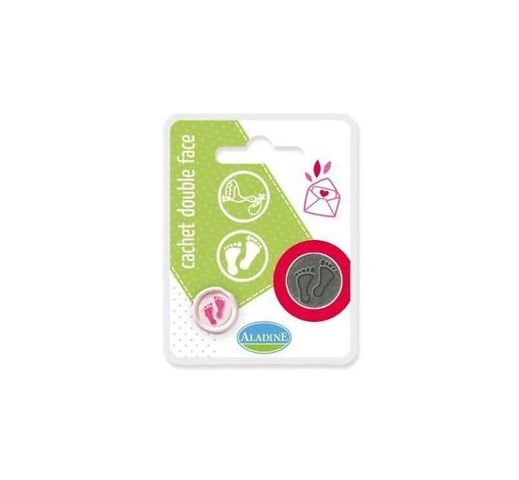 Tampon metalico para lacre , intercambiable , diseño bebe  (2 cm )