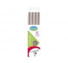 Pack de 4 bastones de cera para  lacre flexible , color plata
