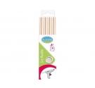 Pack de 4 bastones de cera para  lacre flexible , color nacarado