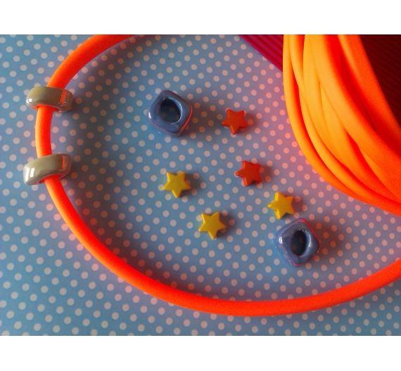 Cordón de Caucho  Regaliz Oval . (Colores Fluor: Naranja fluor)