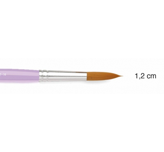 Pincel sintetico redondo de 1,2cm Fleur