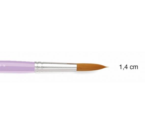 Pincel sintetico redondo de 1,4cm Fleur