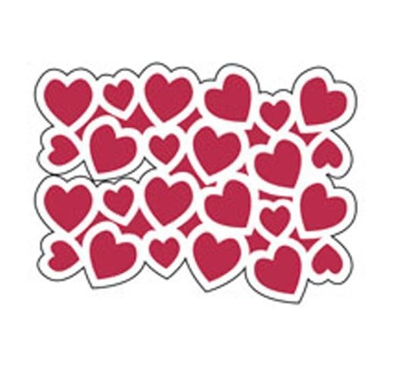 Plantilla Stencil ,Hearts
