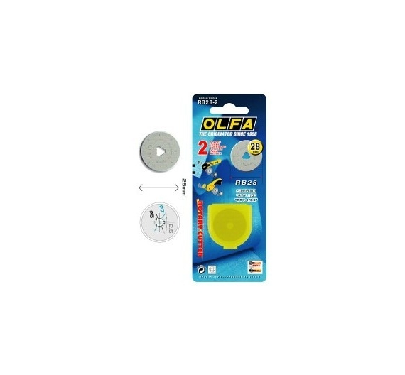Olfa Cuchillas Cutter 28mm (2uds).