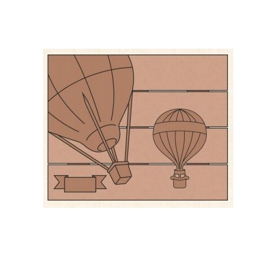 Conjunto globos 40x50 cm con trasera en madera de chopo - Madera para pintar ...