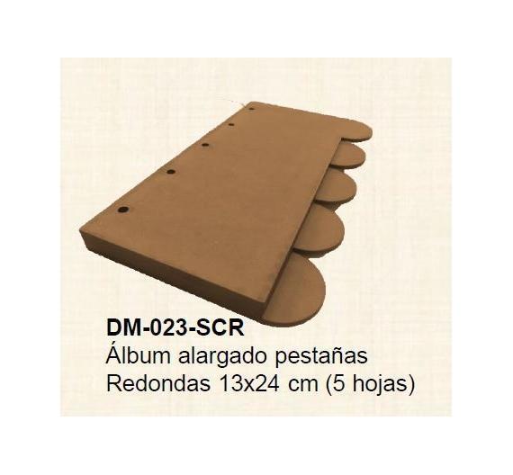 Album pestañas redondas de 13x 24 ( 5 hojas ) en dm