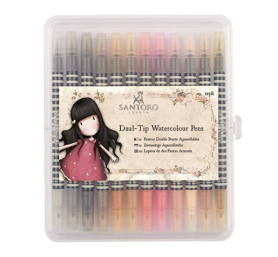 Watercolour Dual -tip Rotularores acuarelables 12piezas