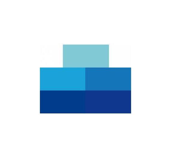 Tampon de 66 gr multicolor ( azules )5 tonos