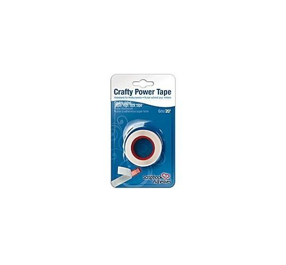Cinta CRAFTY POWER TAPE Adhesivo Permanente.