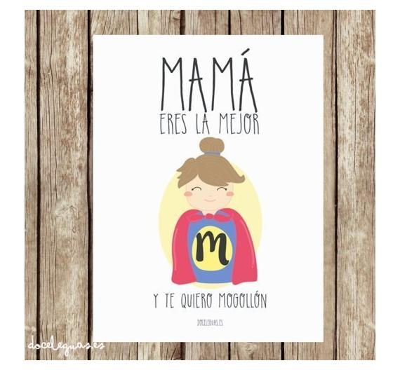 Lamina Super mama en A3