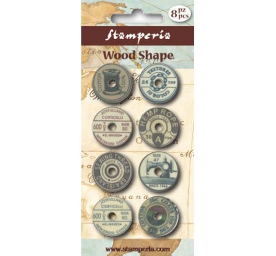 Botones de madera scrap