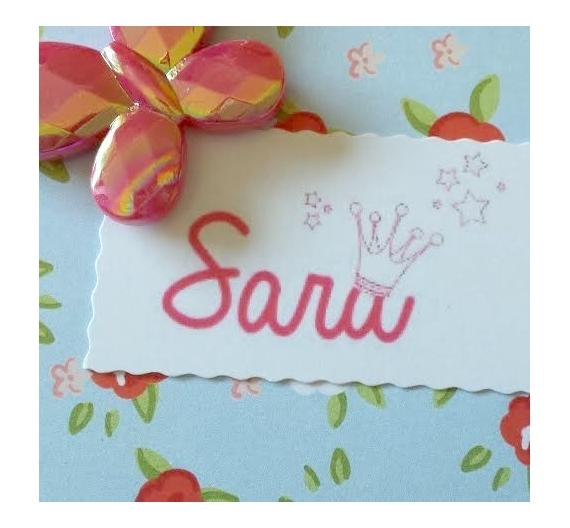 Sello infantil personalizado ,Sara