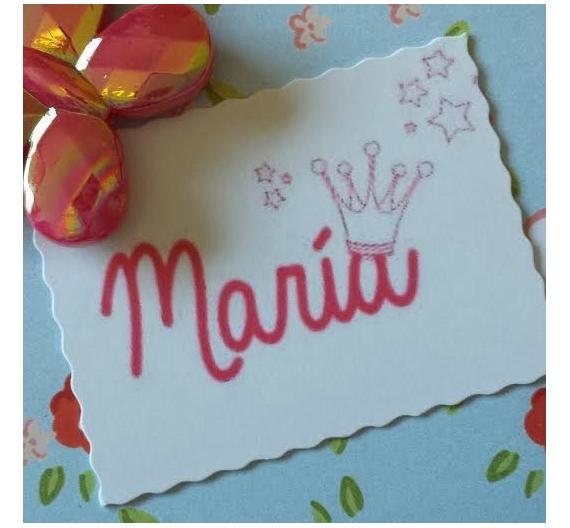 Sello infantil personalizado ,María