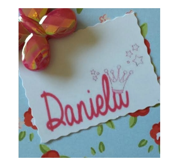Sello infantil personalizado ,Daniela