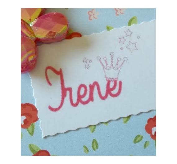 Sello infantil personalizado , Irene