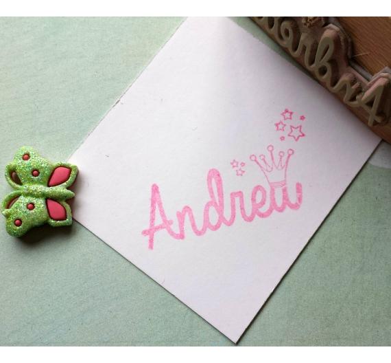 Sello infantil personalizado ,Andrea