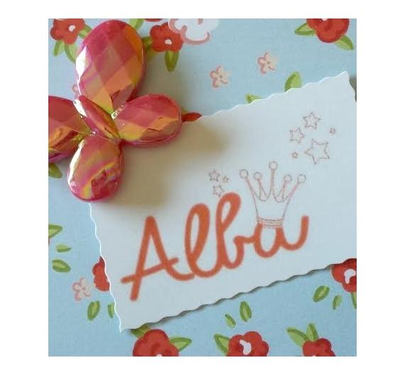 Sello infantil personalizado ,Alba