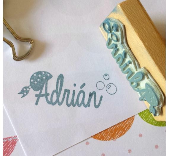 Sello infantil personalizado ,Adrian
