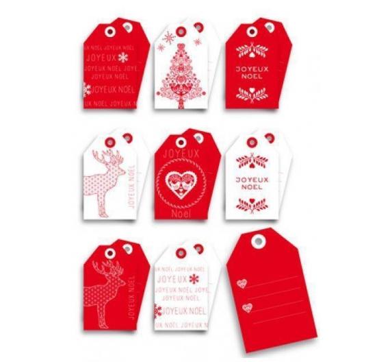 Conjunto de etiquetas Navidad , 8 unid