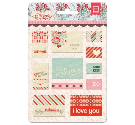 Etiquetas de tela, nueva colección Basic Grey True Love.