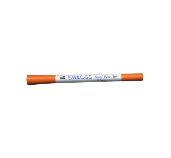 Lapiz Dual Emboss Marker Tangerine