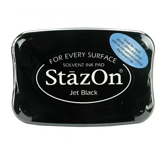 Tinta Permanente Stazon, Jet Black.