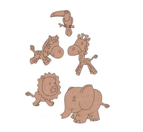 Siluetas de madera motivos Animales
