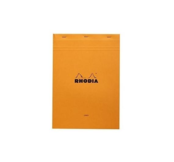 Bloc de tamaño A4 (21×29,7cm) color naranja  hojas en color crema