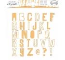 Stencil Cuadrado Formas Alfabeto de 15 x 15 cm