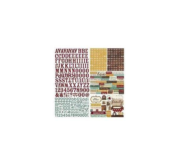 Stickers Simple Stories , colección Legazy
