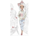 "PAPEL SUBLIMACION ARTIS DECOR 60X30CM (APROX.) ""Fashion girl"