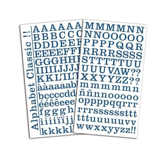Stickers Alfabeto marca Toga , Azul Jeans