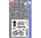 Troquel Framelits con sello. Bicicleta (5 troqueles y 8 sellos).