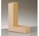 Letras de papel kraft de 10 cm de alto letra L