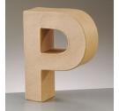 Letras de papel kraft de 10 cm de alto letra P