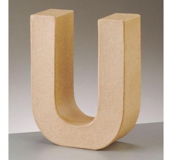 Letras de papel kraft de 10 cm de alto letra U