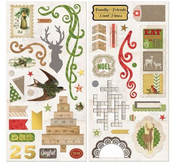 Siluetas de carton de Bobunny colección Crhistmas Collage