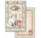 Cards Block Para Scrapbooking , Stamperia Sweet Christmas