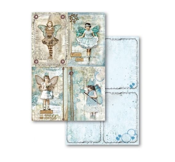 Cards Block Para Scrapbooking , Stamperia Blue Stars