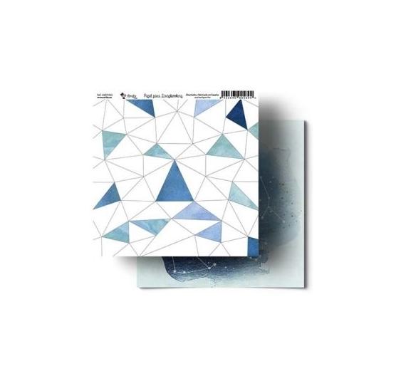 Papel de Scrap 30,5 cm , Colección Amelie modelo  Constelaciones .