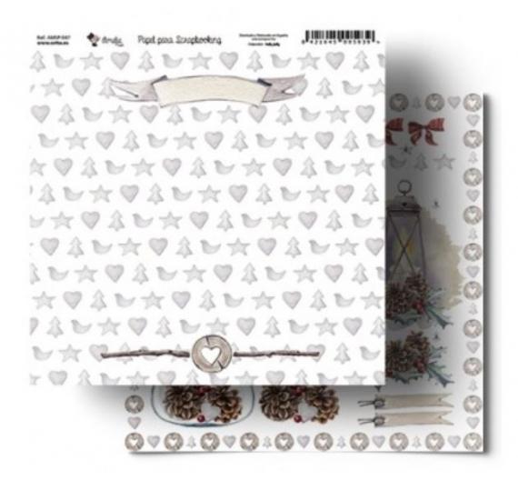 Papel para Scrapbooking 30,5 cm de Orita modelo Luces de Navidad