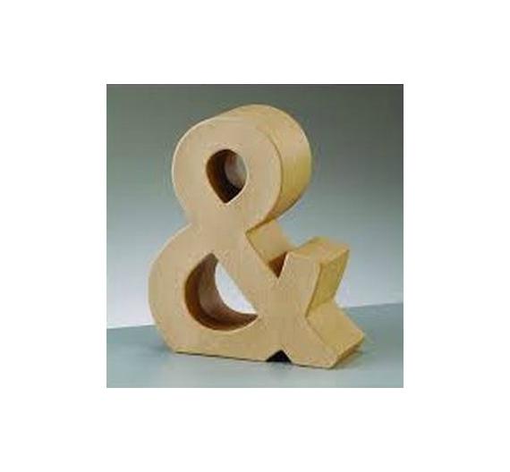Letras de cartón  tamaño de 17,5 x 17,5 x 5,5 cm modelo &