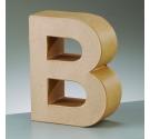 Letras de cartón  tamaño de 17,5 x 17,5 x 5,5 cm modelo B
