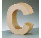 Letras de cartón  tamaño de 17,5 x 17,5 x 5,5 cm modelo C