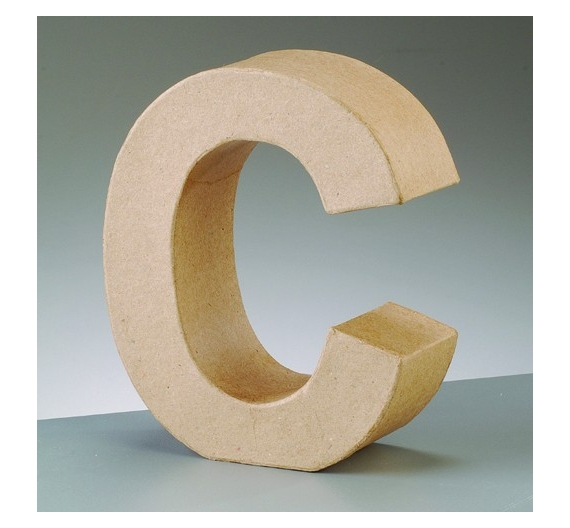 Letras de cartón  tamaño de 18 x 16  x 5,5 cm modelo C