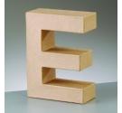 Letras de cartón  tamaño de 17,5 x 17,5 x 5,5 cm modelo E