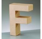 Letras de cartón  tamaño de 18 x 16  x 5,5 cm  modelo F