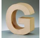 Letras de cartón  tamaño de 17,5 x 17,5 x 5,5 cm modelo G