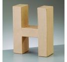 Letras de cartón  tamaño de 17,5 x 17,5 x 5,5 cm modelo H