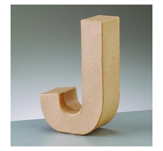 Letras de cartón  tamaño de18  x 5,5  x 3,5cm modelo J